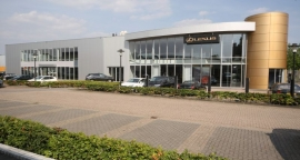 Uitbreiding showroom Lexus